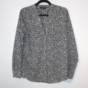 Karl Lagerfeld cheetah animal print blouse